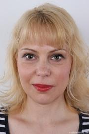 matured blonde with crimson