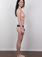 Sexy brunette with beautiful face and skinny body - XXXonXXX - Pic 9