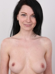 Sexy brunette with beautiful face and skinny body - XXXonXXX - Pic 11
