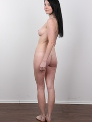 Sexy brunette with beautiful face and skinny body - XXXonXXX - Pic 17