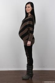 embarazada morena increíble mamada