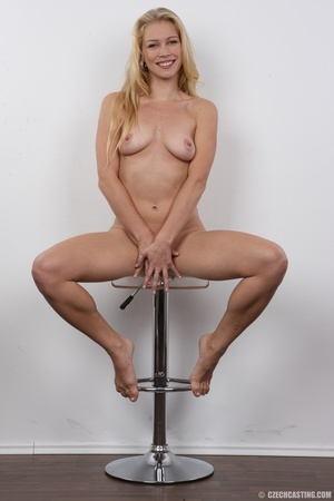 This blonde with blue eyes and an amazing body and shaved pussy gets fucked - XXXonXXX - Pic 18