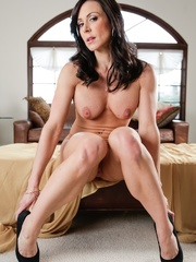 This brunette cougar, with huge tits, spreads her - XXXonXXX - Pic 7