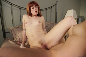 Scissoring action featuring a flat-chested redhead - XXXonXXX - Pic 10
