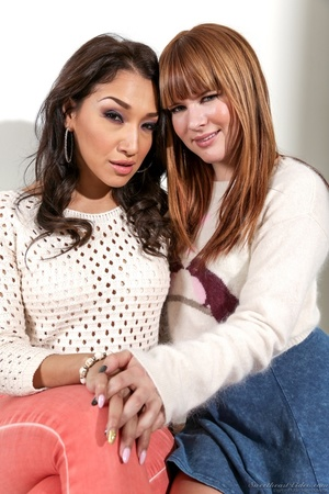 Baby-faced redhead posing next to her Latina girlfriend - XXXonXXX - Pic 13