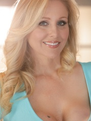 Blue-eyed blonde MILF taking off her light blue - XXXonXXX - Pic 2