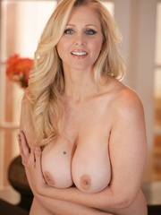 Blue-eyed blonde MILF taking off her light blue - XXXonXXX - Pic 11