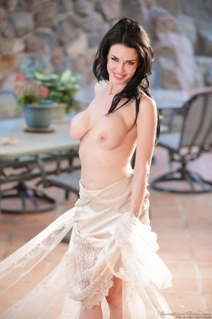 See-through nightgown taken off by a long-haired brunette - XXXonXXX - Pic 5