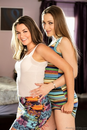 Two colorfully dressed lesbians making out near a bed - XXXonXXX - Pic 2