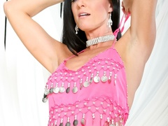 Black haired lass in pink indian outfit teasing on - XXXonXXX - Pic 11