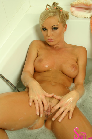 This sexy, mature, blonde gets all wet in this sensual shower - XXXonXXX - Pic 12