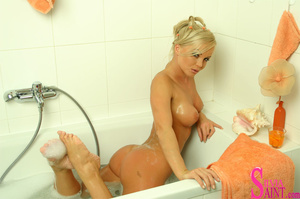 This sexy, mature, blonde gets all wet in this sensual shower - XXXonXXX - Pic 14