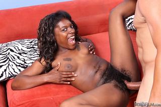curly hair ebony blowing