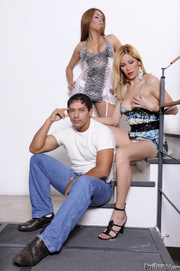pair high heeled transsexual