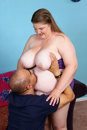 Plump ass fatty wiggles out of purple undies before being ass fucked on the couch and facialized - XXXonXXX - Pic 6