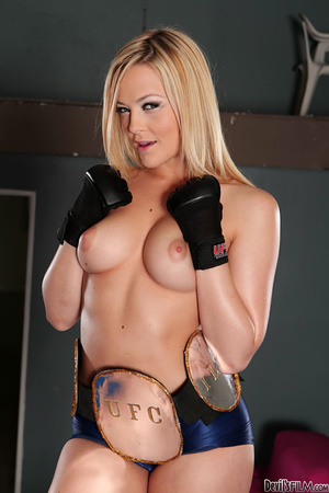 Big breasted blonde tasting load after sucking dick and riding it in the cage - XXXonXXX - Pic 2