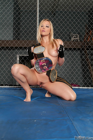 Big breasted blonde tasting load after sucking dick and riding it in the cage - XXXonXXX - Pic 4