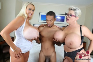 Two busty blonde BBWs pose dressed in op - XXX Dessert - Picture 4