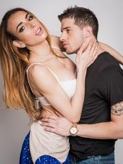 Sultry shemale idol poses with her model boyfriend - XXXonXXX - Pic 11