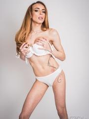 Sultry shemale idol poses with her model boyfriend - XXXonXXX - Pic 12