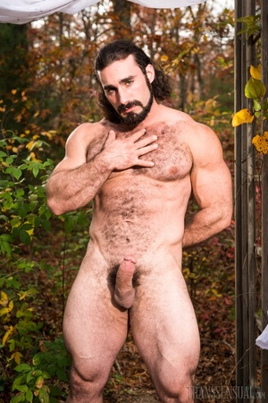 Buff stud and partner gets naked in the woods showing their trunks - XXXonXXX - Pic 15