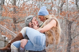 Cute blonde trans enjoys a sweet time with boyfriend outdoors - XXXonXXX - Pic 5