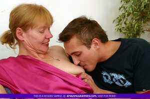 Old blonde babe teases a younger stud wi - XXX Dessert - Picture 7