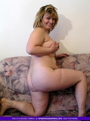 fat granny pose naked