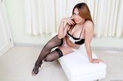 sexy brunette lingerie teases