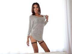 Exotic girl in lingerie teases her hard dick in - XXXonXXX - Pic 2