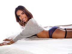 Exotic girl in lingerie teases her hard dick in - XXXonXXX - Pic 7