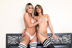 Two horny sluts fuck and suck each other off in the bedroom. - XXXonXXX - Pic 4