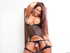 Voluptuous trans in black likes to spread her ass - XXXonXXX - Pic 14