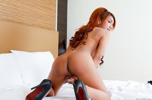 Sexy redhead in lace spreads her ass before doing a striptease. - XXXonXXX - Pic 14