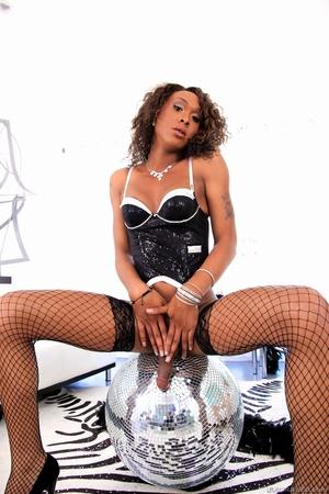Ebony babe in black gets her dick sucked by two men. - XXXonXXX - Pic 10