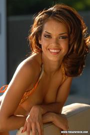 beautiful girl orange bikini