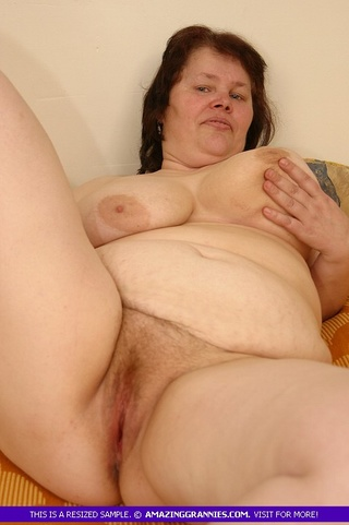 naked granny teases fat