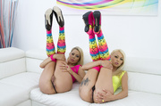 two blondies funny outfits