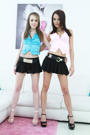 Teens in tiny skirts and high heels fucked together - XXXonXXX - Pic 1