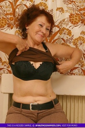 Luscious granny slowly peels off her pin - XXX Dessert - Picture 5