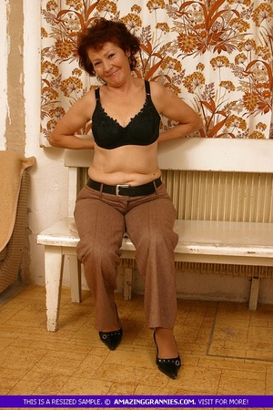 Luscious granny slowly peels off her pin - XXX Dessert - Picture 6
