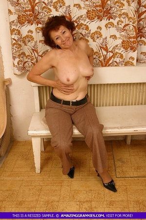 Luscious granny slowly peels off her pin - XXX Dessert - Picture 9