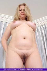 Luscious granny naked tits