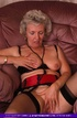Smoking hot blonde granny shows her indulging boobs and nasty pussy as