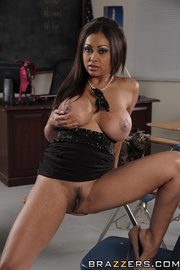 naughty brunette getting very
