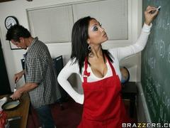 Slutty, brunette professor gets finger fucked, and - XXXonXXX - Pic 8