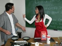 Slutty, brunette professor gets finger fucked, and - XXXonXXX - Pic 10