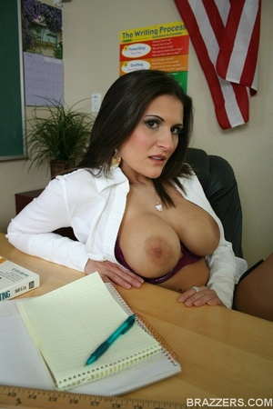 Nasty professor wearing short skirt is getting seduced by a student with big cock - XXXonXXX - Pic 4