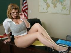 Sexy professor with big tits wearing tight shirt - XXXonXXX - Pic 3