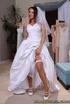 tatted-up brunette bride gets